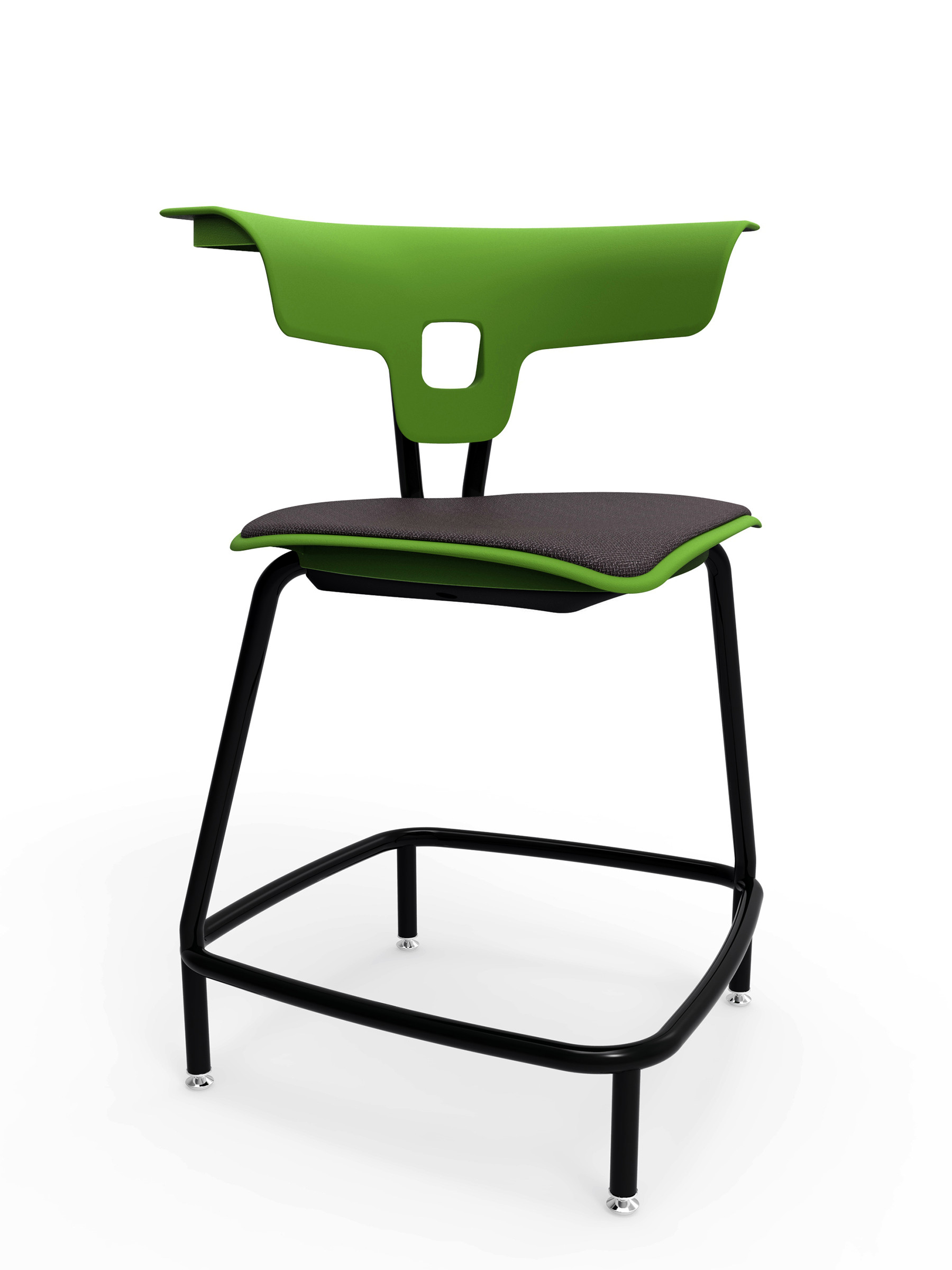 ki ruckus stool with upholstered seat