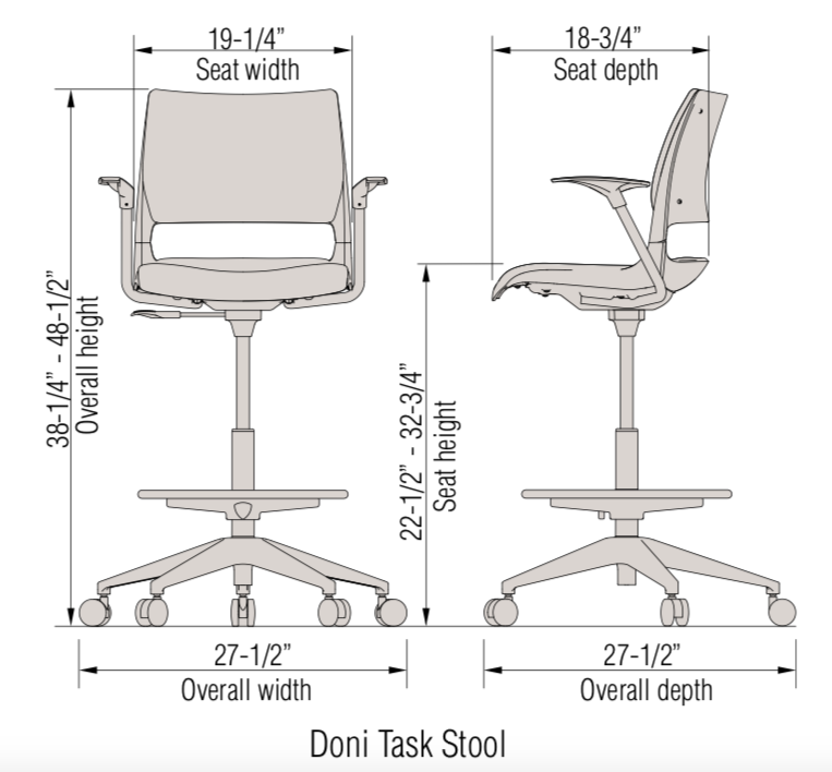 doni task stool dimensions