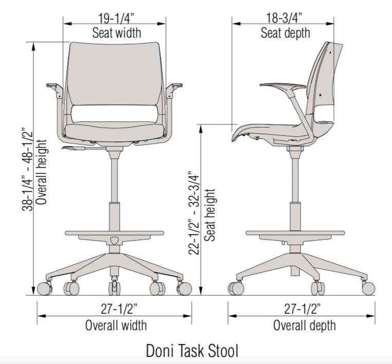 doni task stool dimensions
