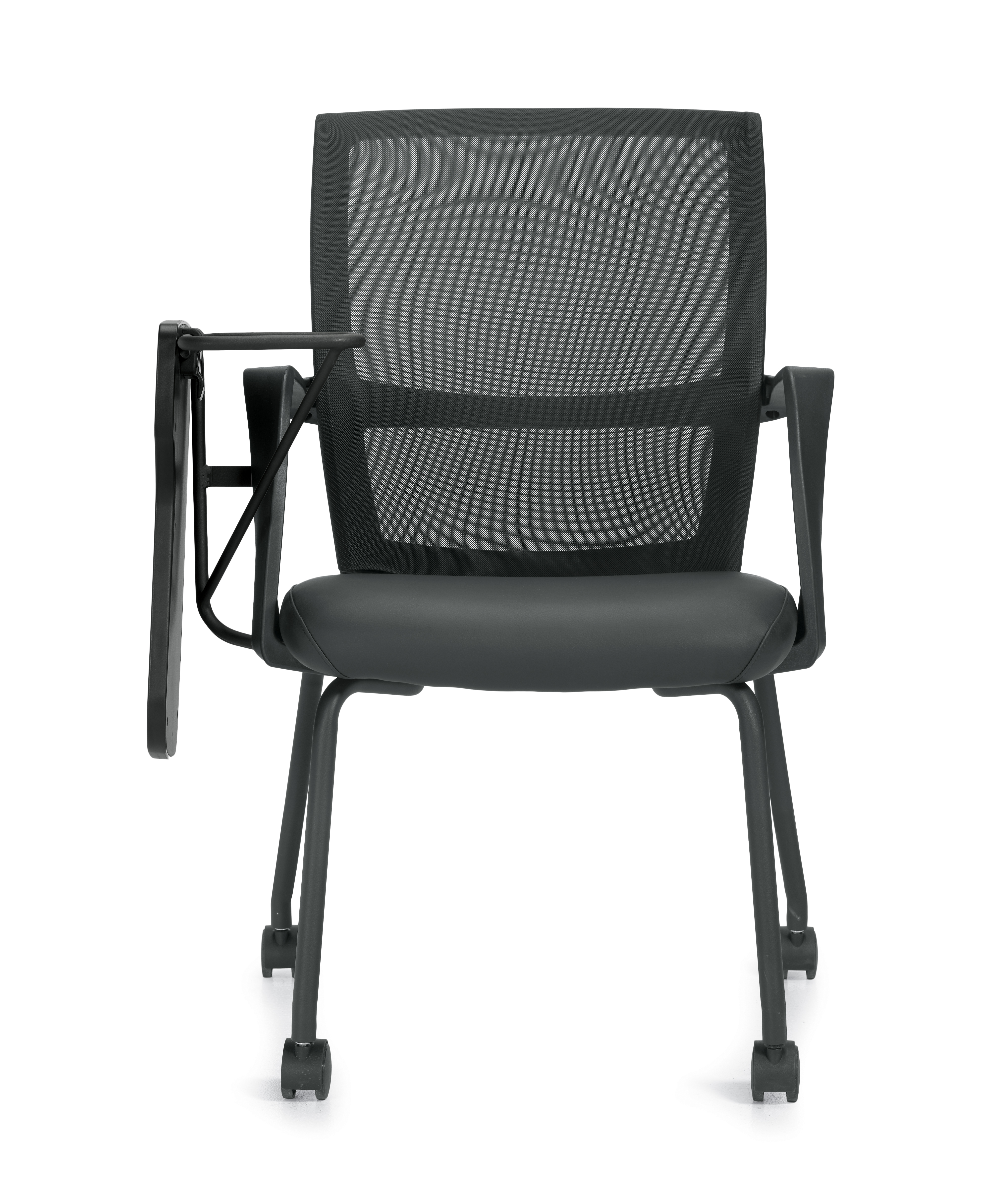 mesh back armchair with folding tablet arm