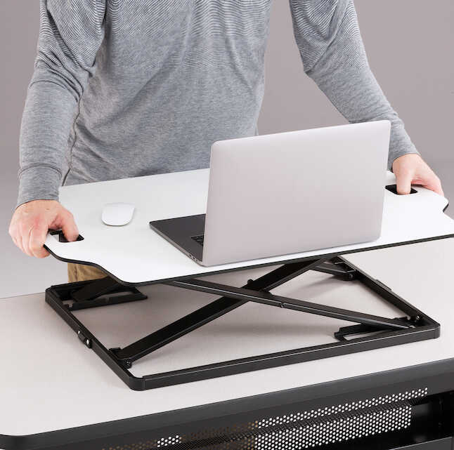 safco sit to stand ergonomic workstation