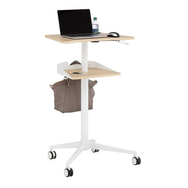 safco vum height adjustable mobile workstation