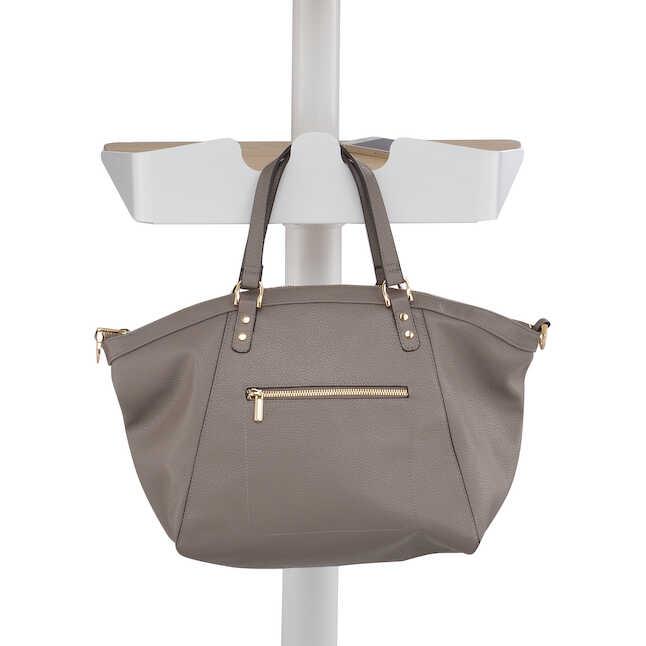 safco vum height adjustable mobile workstation purse hook