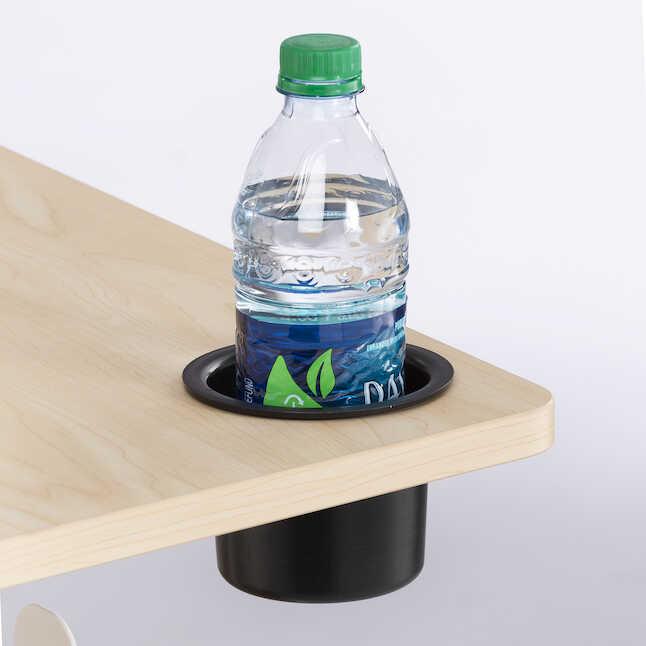 safco vum height adjustable mobile workstation cup holder
