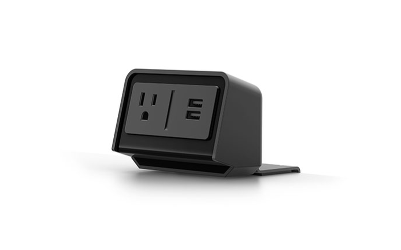 black flexcharge3 clamp on desk power module