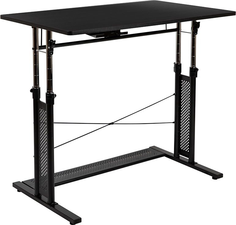 small height adjustable computer table