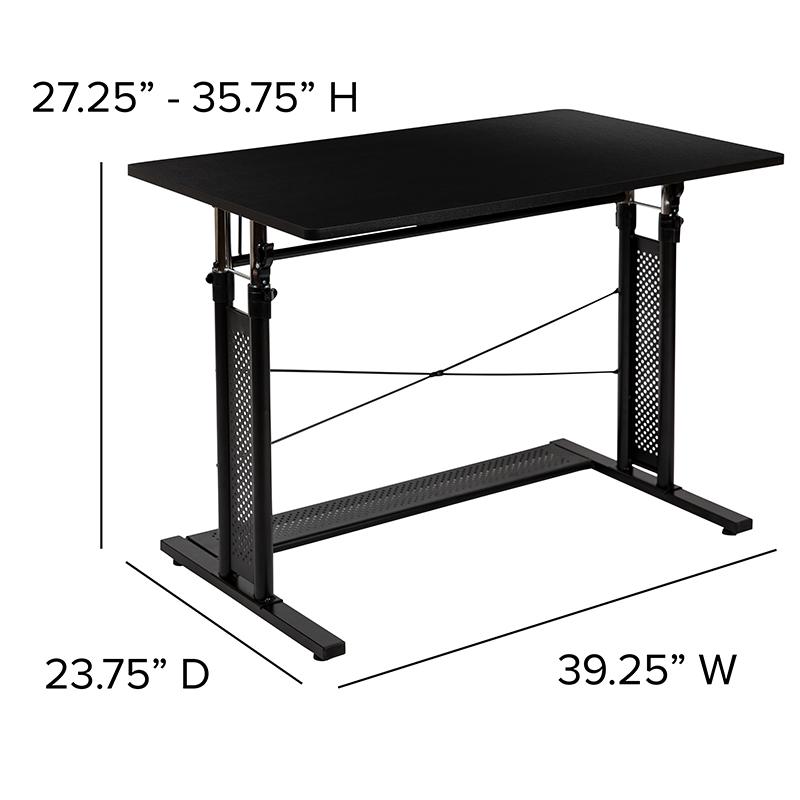 height adjustable laptop desk dimensions