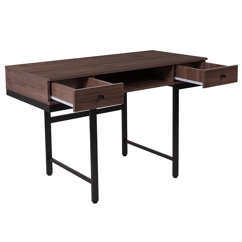 flash furniture bartlett mid century desk with drawers