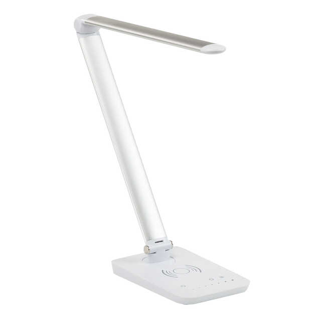 vamp silver led charging lamp