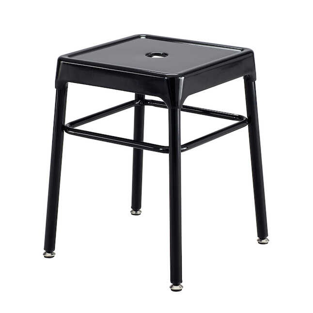 black steel guest stool