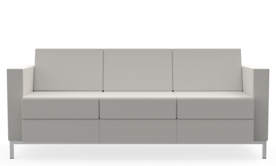 citi square 3 seat leather sofa s7877
