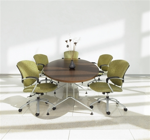Global Alba Contemporary Elliptical Conference Table with Metal Base (7 Sizes Available!)