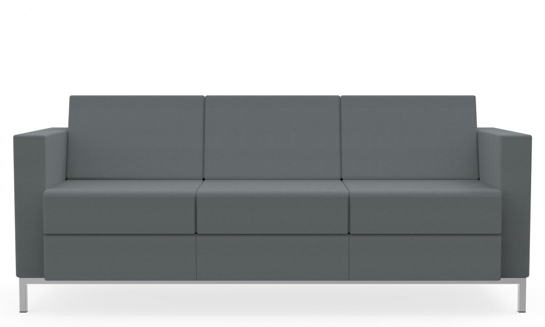3 seat fabric citi square sofa