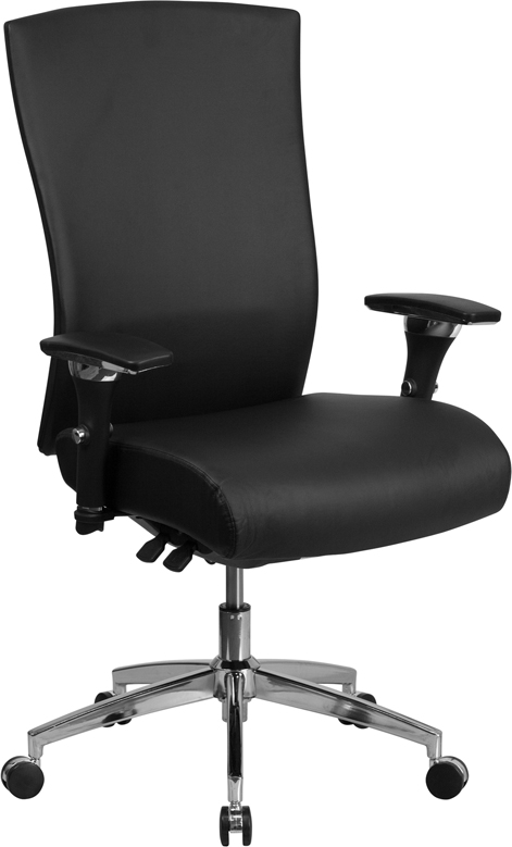 flash furniture high back 24 hour intensive use office chair angled view