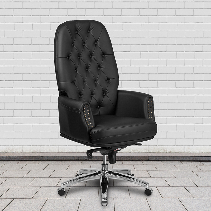 Flash Furniture Traditional Black Leather Tufted Executive Chair