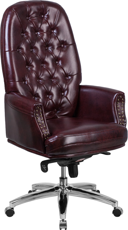 burgundy office chair