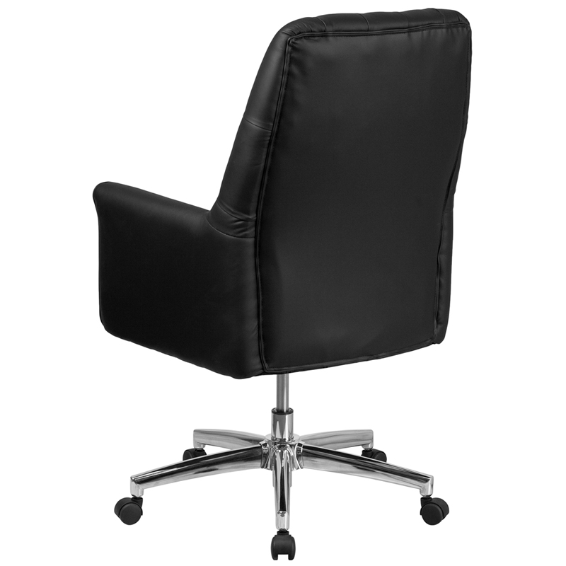 mid back tufted office chair back view