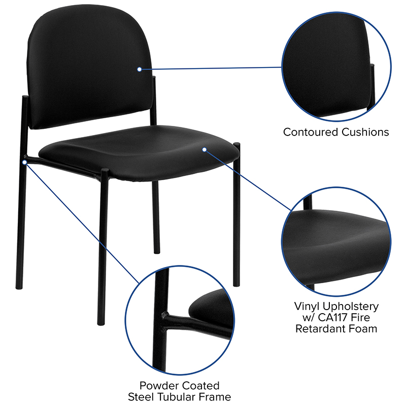 vinyl stack chair features
