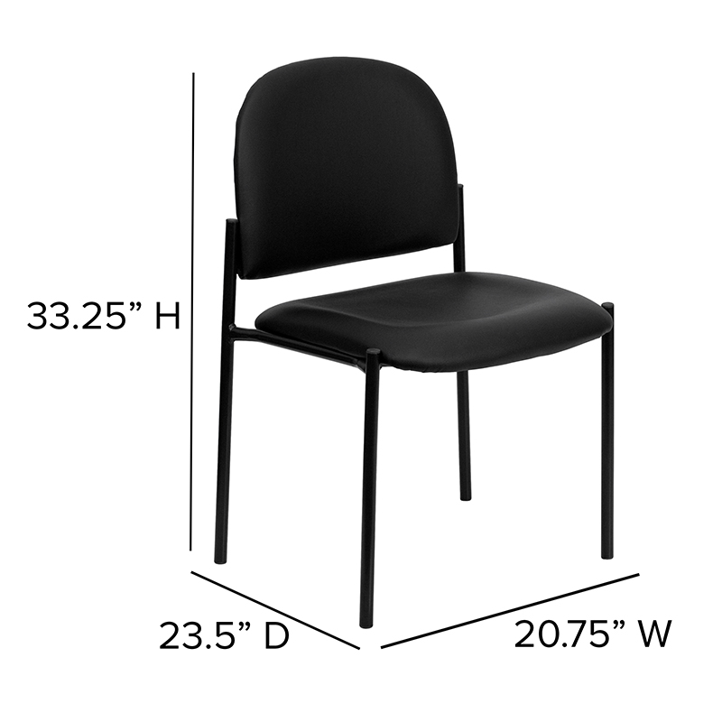 vinyl stack chair dimensions