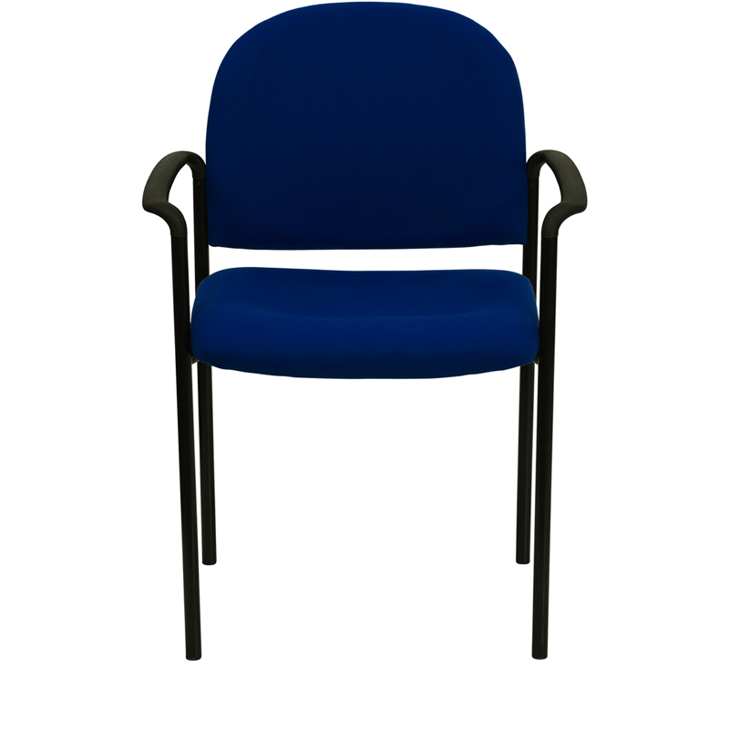 navy fabric chair front view