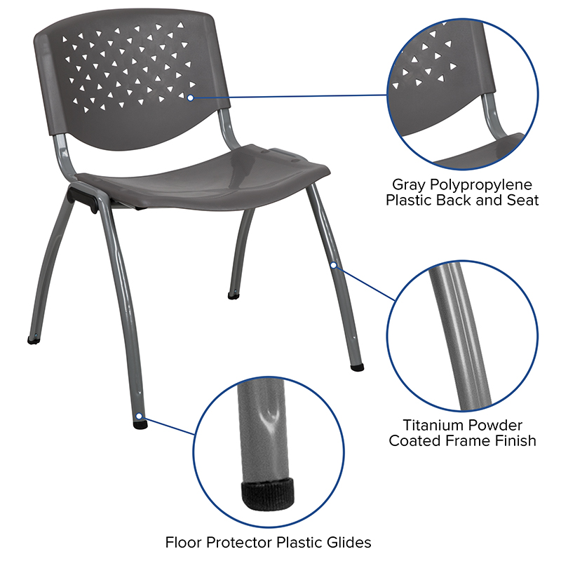 gray multi purpose chair features
