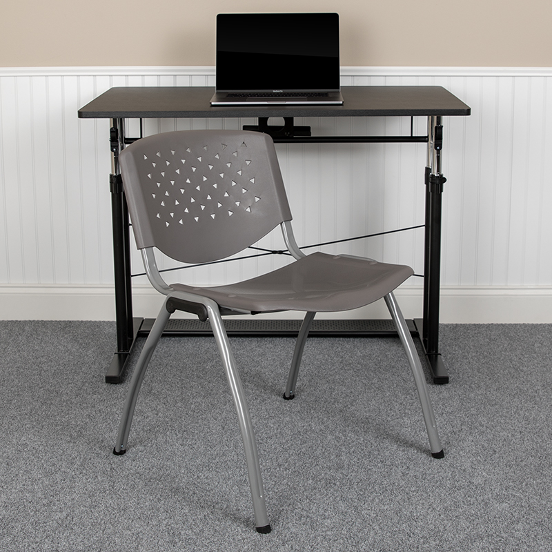 gray multi purpose chair in office space
