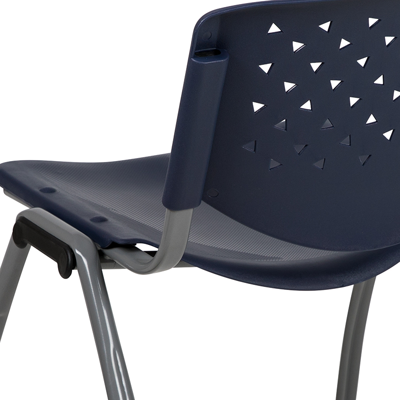 navy blue stack chair back