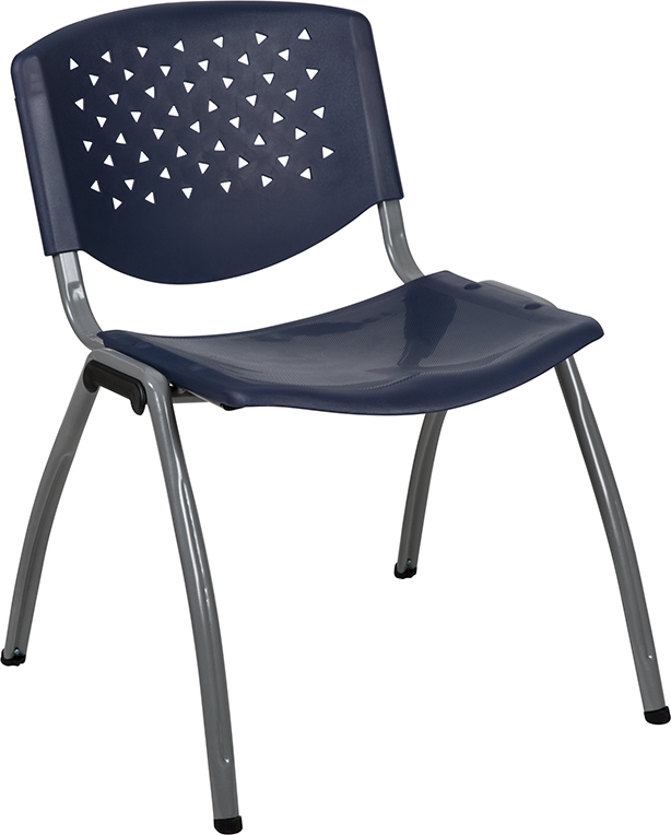 navy blue stack chair