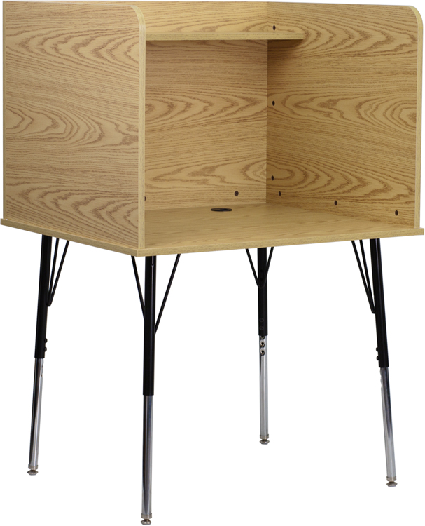 flash furniture stand alone study carrel