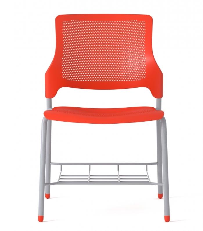 armless stream chair with bag rack