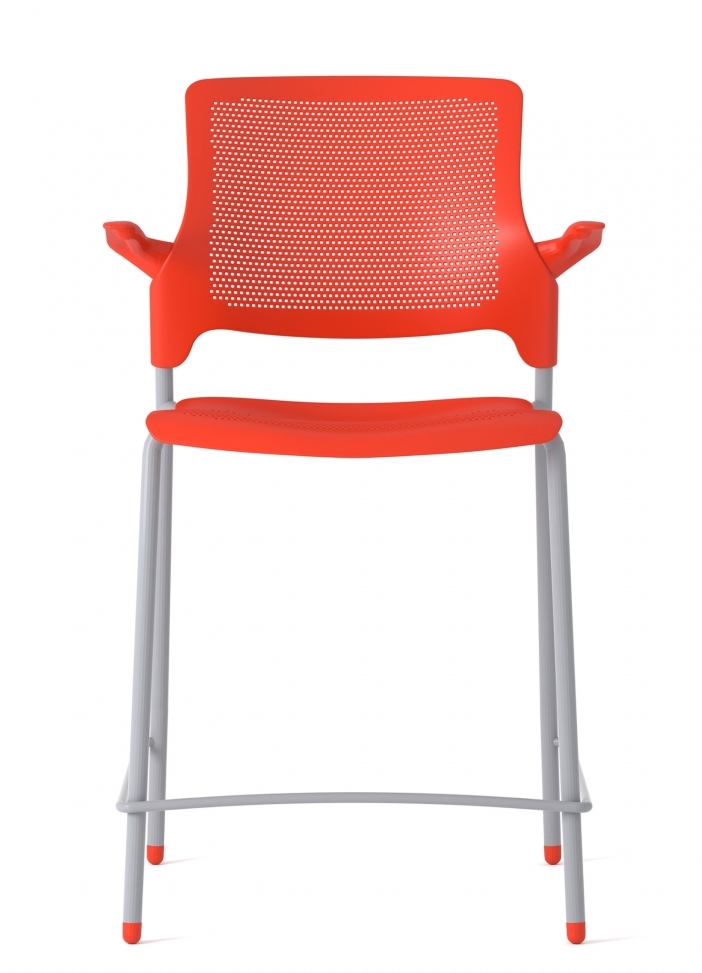 global stream counter height stool with arms