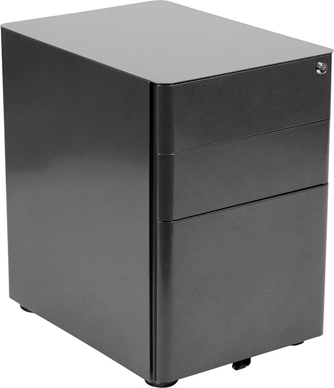 black file cabinet