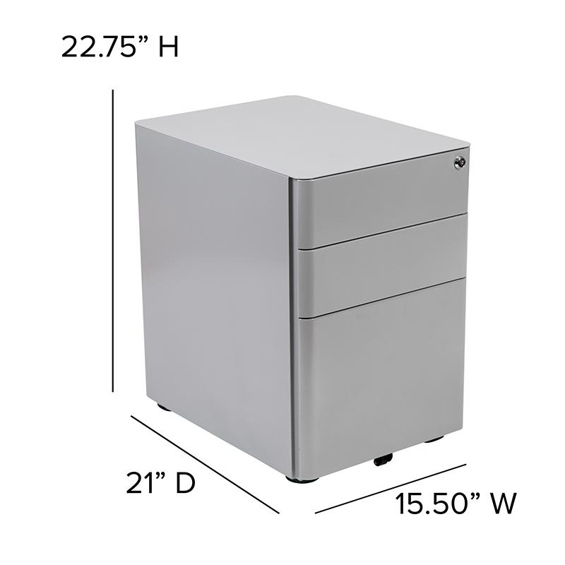 gray desk pedestal dimensions