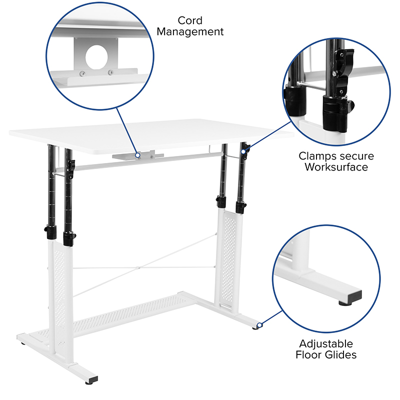 white height adjustable multi purpose workstation features