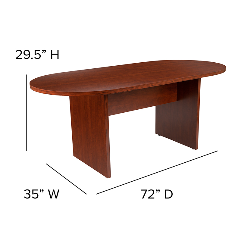 6' cherry conference table dimensions