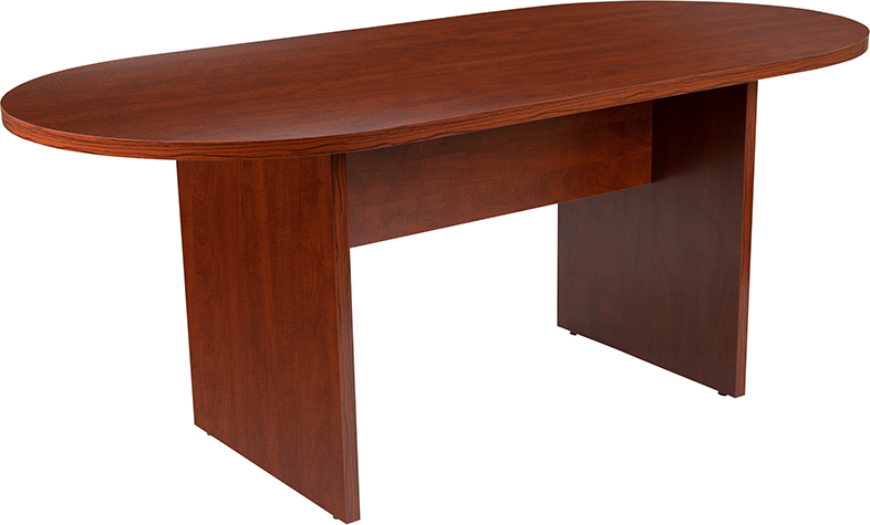 6' cherry conference table by flash furniture