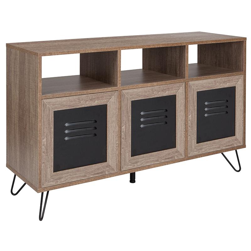 flash furniture rustic storage console