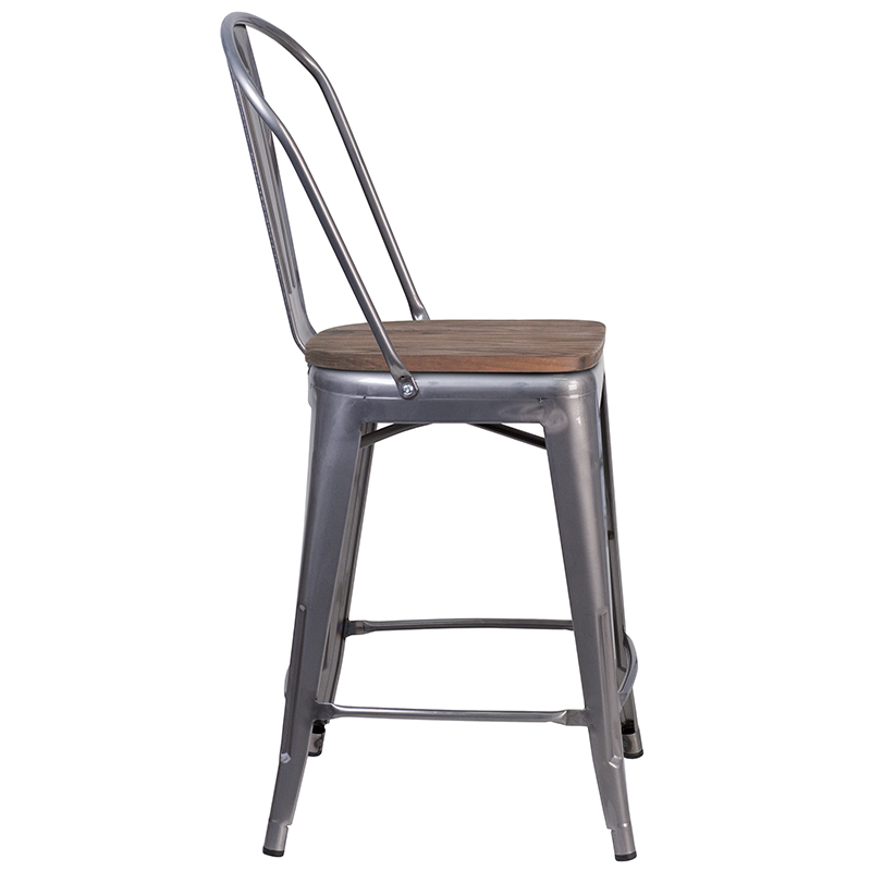 metal counter stool side view