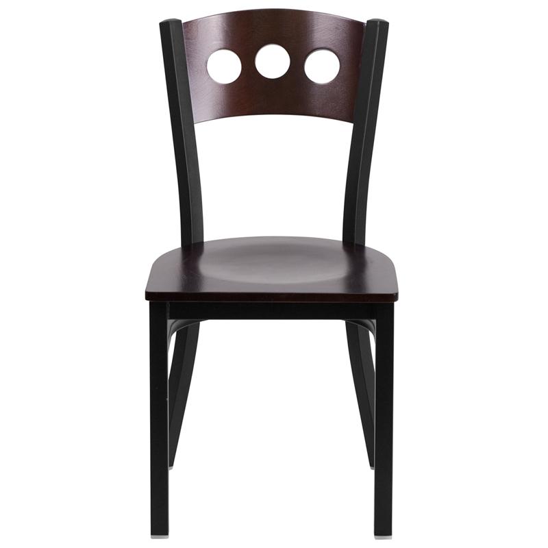 walnut restaurant chair front