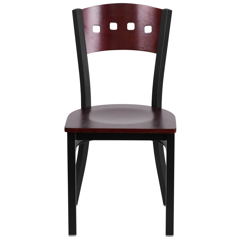 mahogany restaurant chair