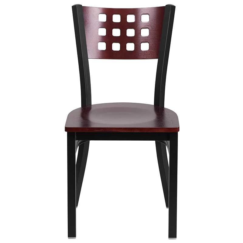 contemporary mahogany restaurant chair