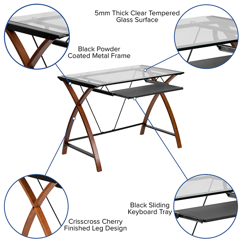 computer desk features