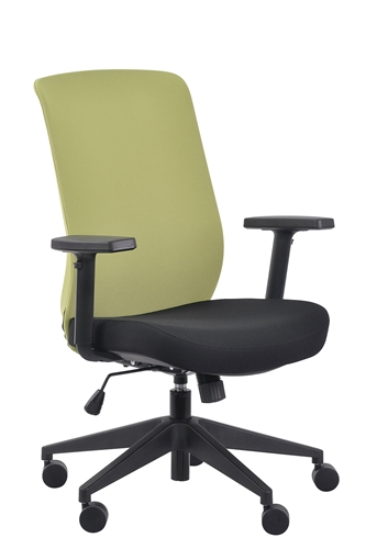 Eurotech Seating Gene Lime Green Fabric Back Task Chair