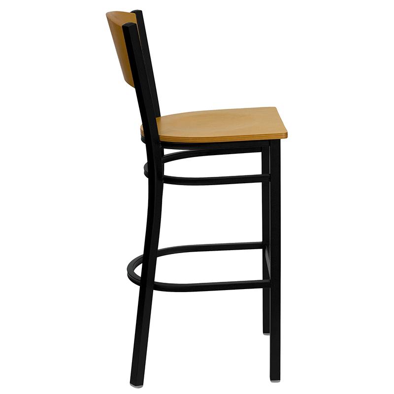wood restaurant bar stool