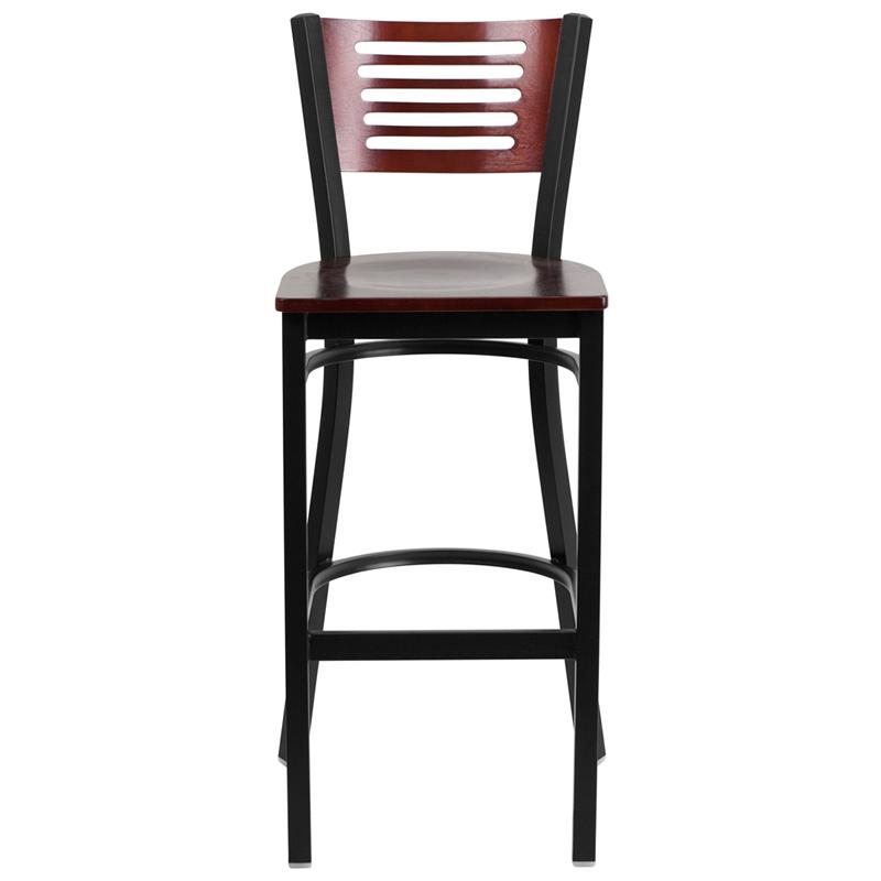 mahogany bar stool front