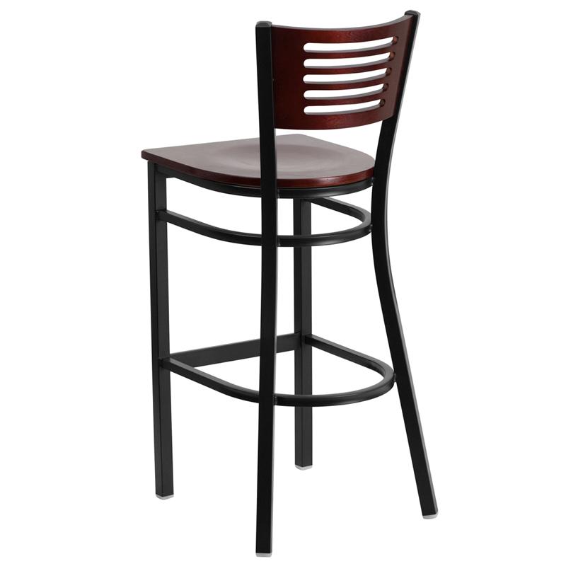 mahogany bar stool back