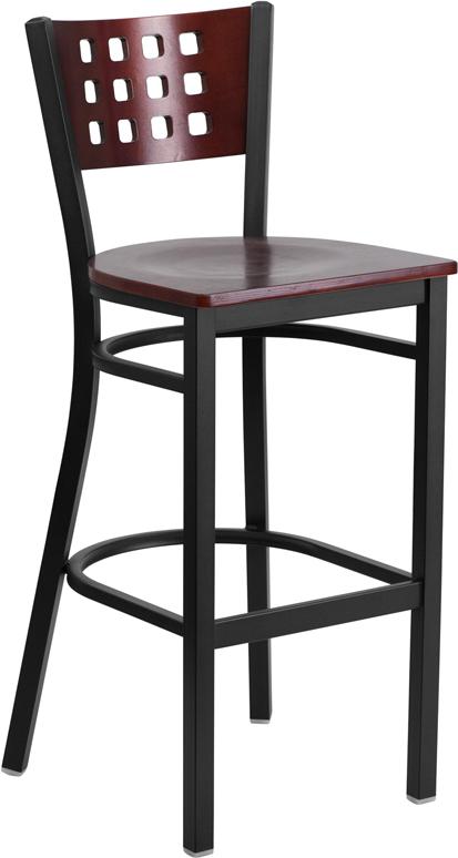 mahogany restaurant bar stool