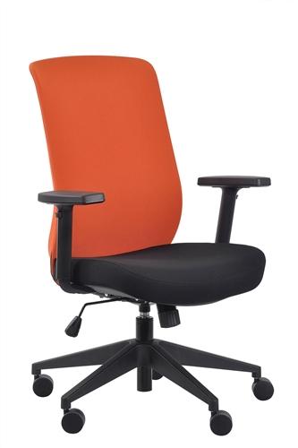 Eurotech Seating Gene Orange Fabric Back Task Chair