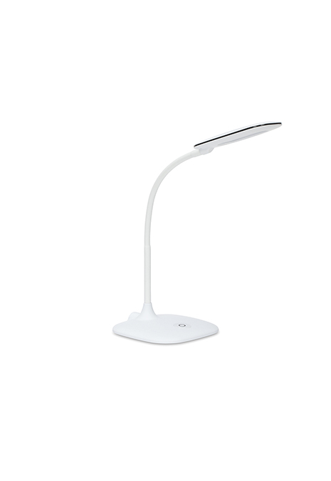 white desk lamp with touch control