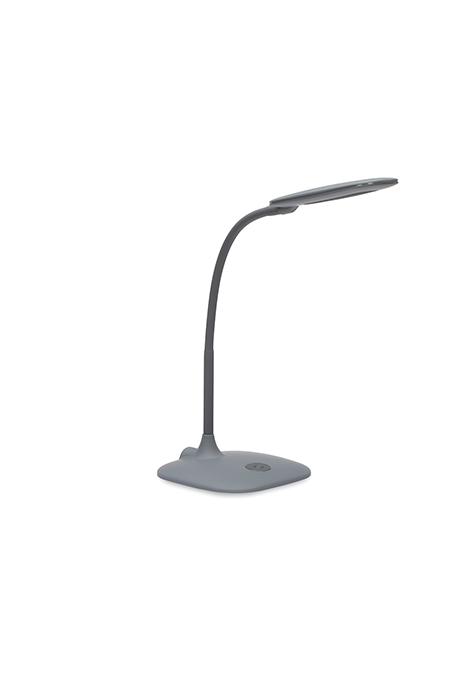 gray desk lamp with touch control